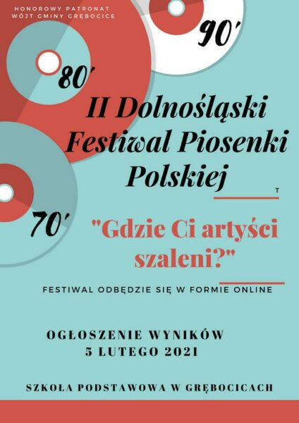 Plakat promujący festiwal Gdzie Ci artyści szaleni