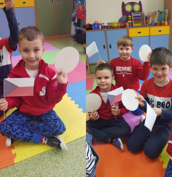 Dzieci podczas próbowania czeskiego przysmaku