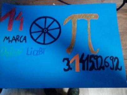 Plakat wykonany przez uczniów