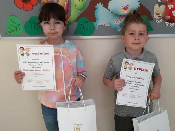 Kacper Grombik i Małgorzata Brasse-Melcer laureatami konkursu recytatorskiego