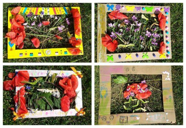 Prace wykonane przez uczniów podczas edukacji przyrodniczej