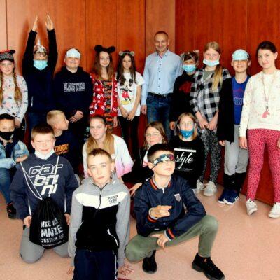 Klasa 4a podczas obchodów szkolnego Dnia Dziecka