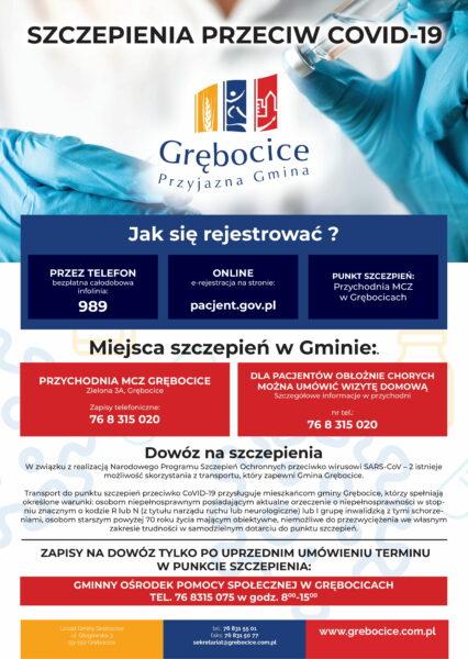 plakat szczepienie Covid-19